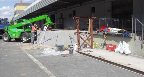 Neubau einer Überladebrücke