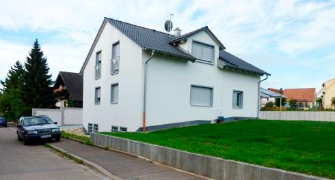 Neubau eines 1-Familienwohnhauses mit Doppelgarage